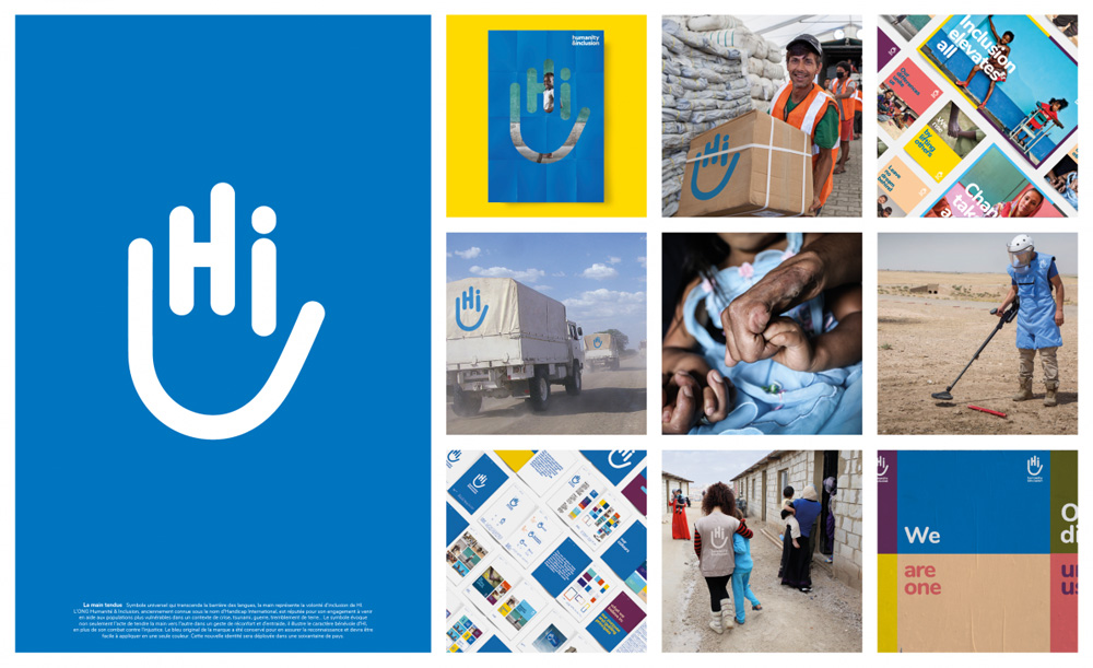 New Logo and Identity for Handicap International by Cossette