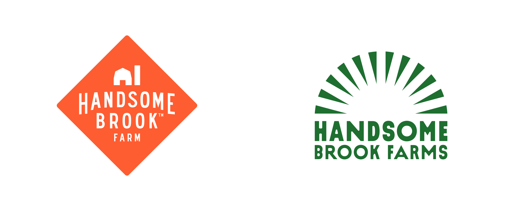 New Logo and Identity for Handsome Brook Farms by Redscout