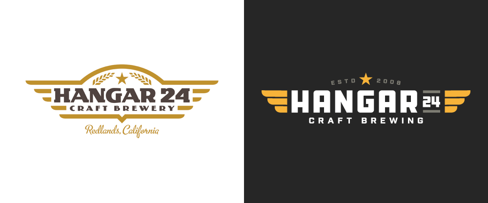 New Logo and Labels for Hangar 24 Craft Brewing