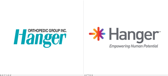 Hanger Logo, Before and After