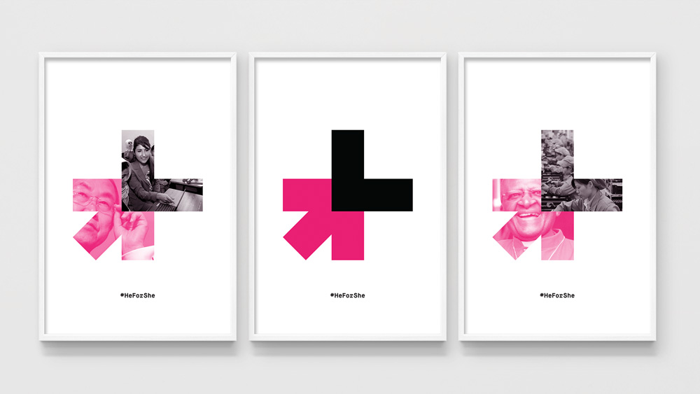 brand new  new logo and identity for heforshe by dia