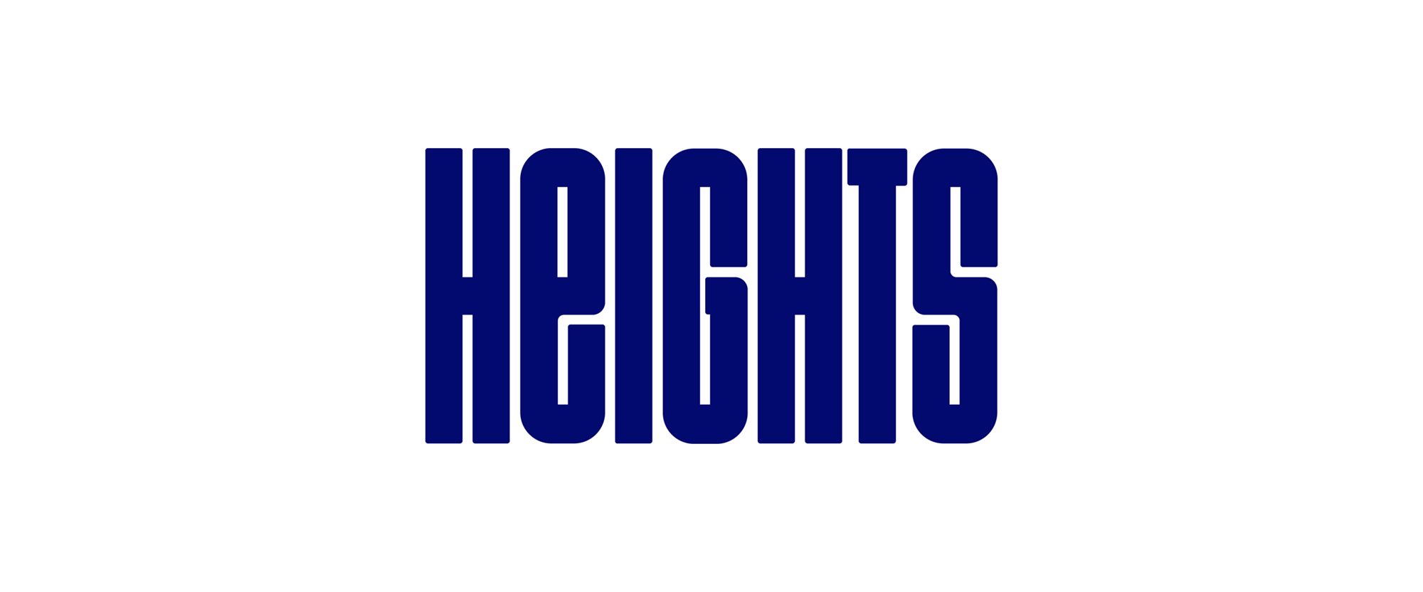 New Logo and Identity for Heights by Ragged Edge