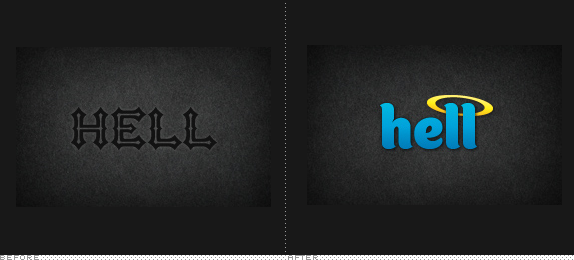 Hell Logo, Before and After