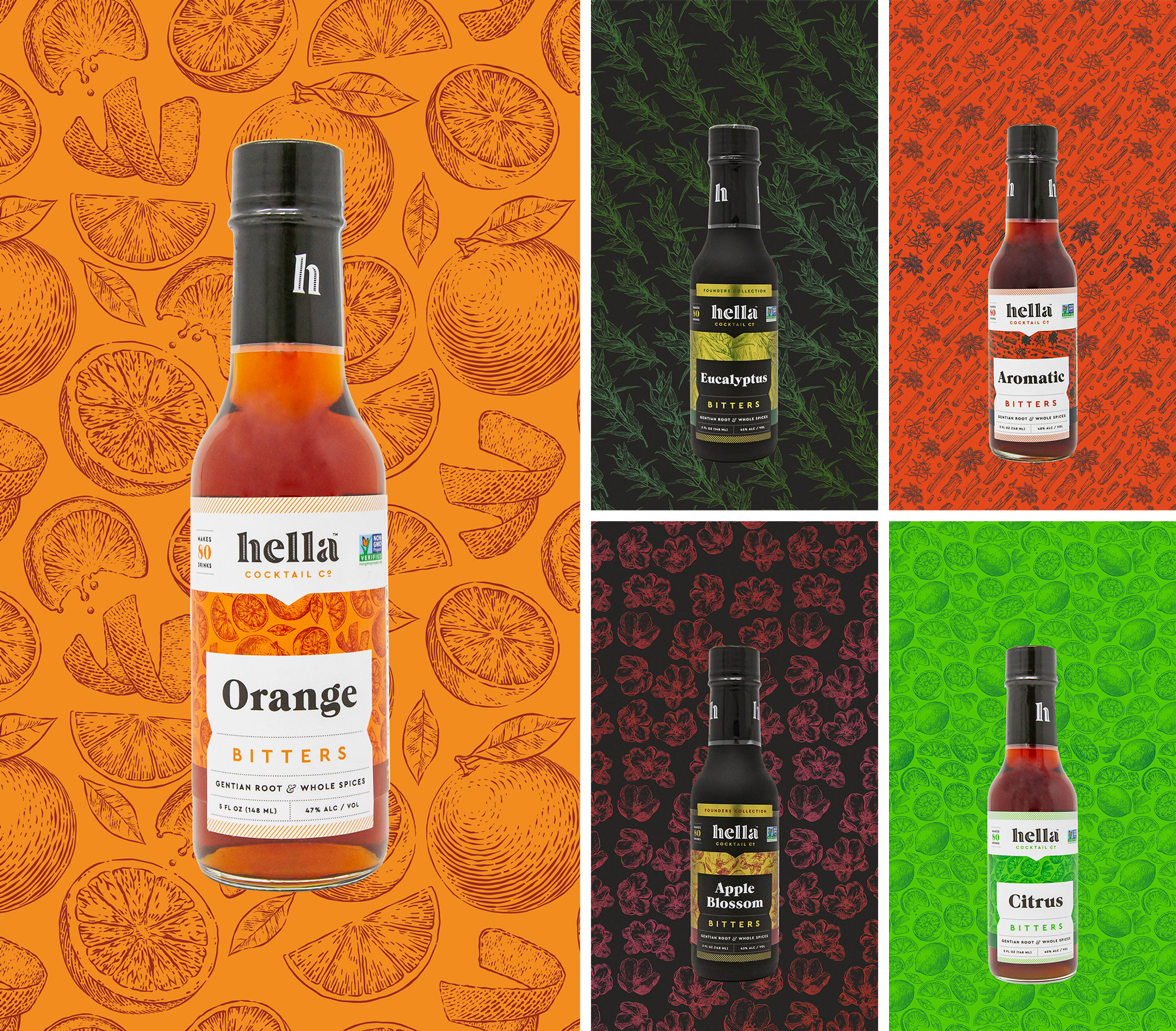 New Logo and Packaging for Hella Cocktail Co. by We Are Bill