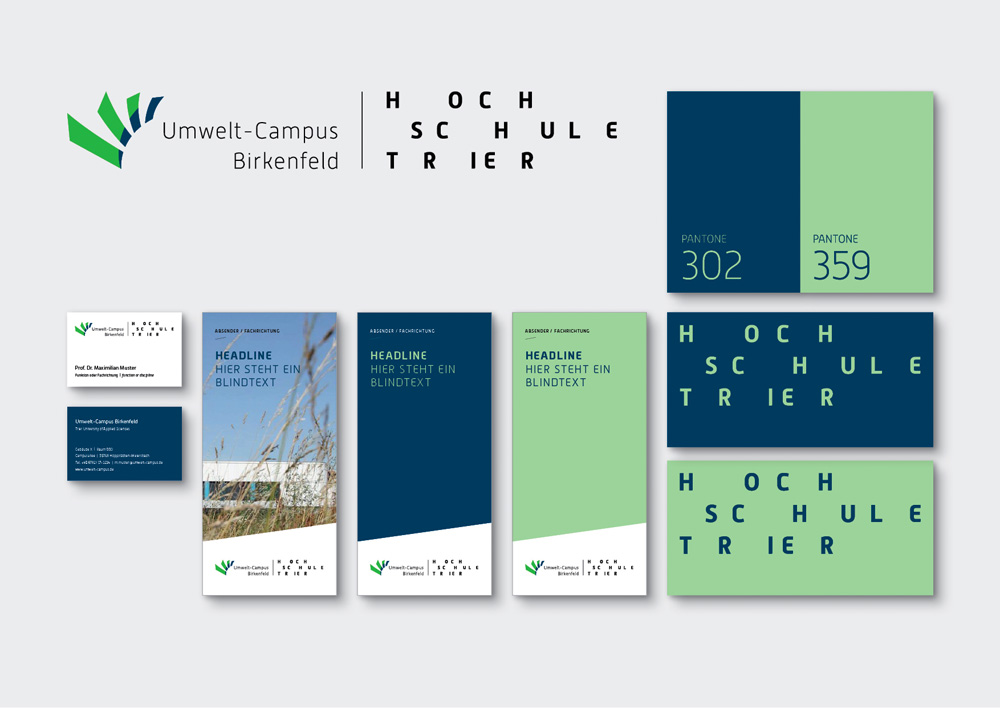 New Logo and Identity for Hochschule Trier done In-house
