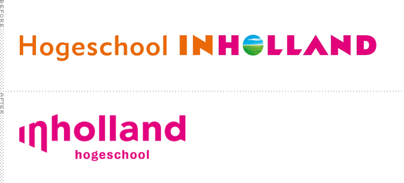 Hogeschool Inholland Logo, Before and After