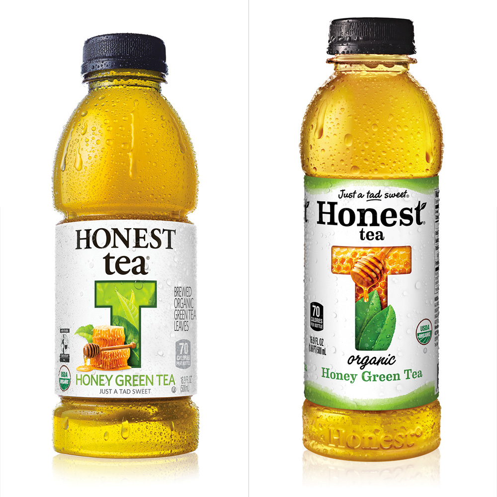 brand new new logo and packaging for honest tea by