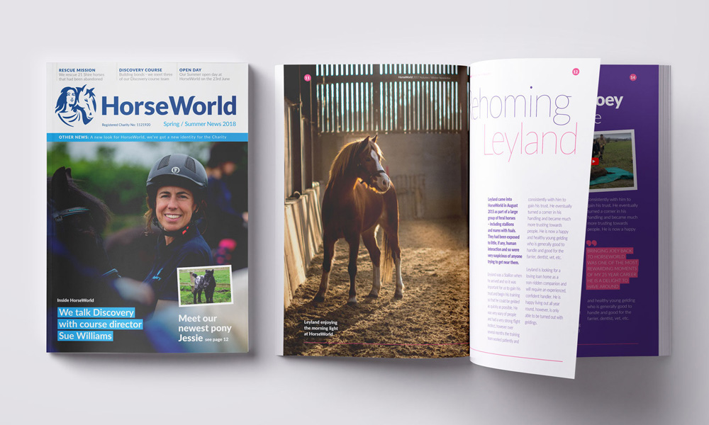 New Logo and Identity for HorseWorld by Peloton