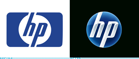 hp Logo, Before and After