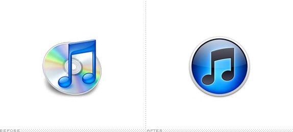 iTunes Icon, Before and After