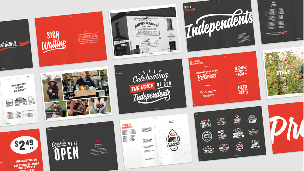 New Logos and Identity for IGA by Interbrand
