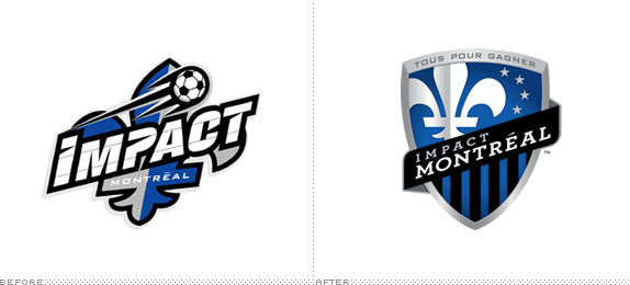 Montreal Impact Logo, Before and After