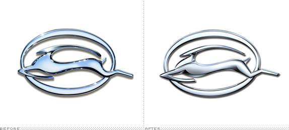 Chevy Impala Logo, Before and After
