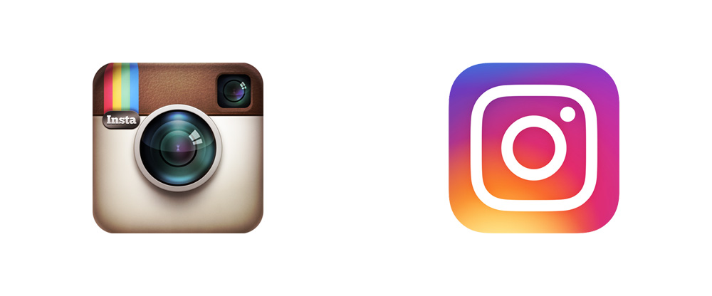 Instagram old and current logo