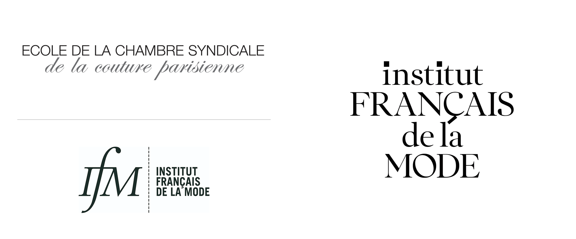 New Logo and Identity for Institut Français de la Mode by Base
