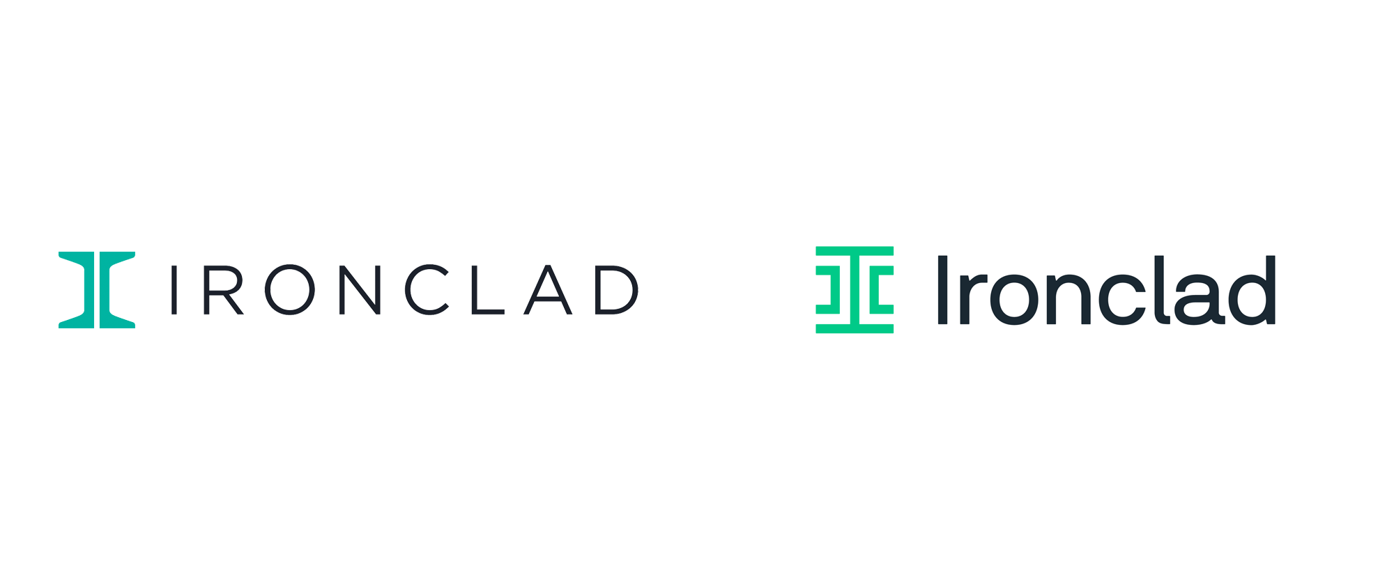New Logo and Identity for Ironclad done In-house with Century