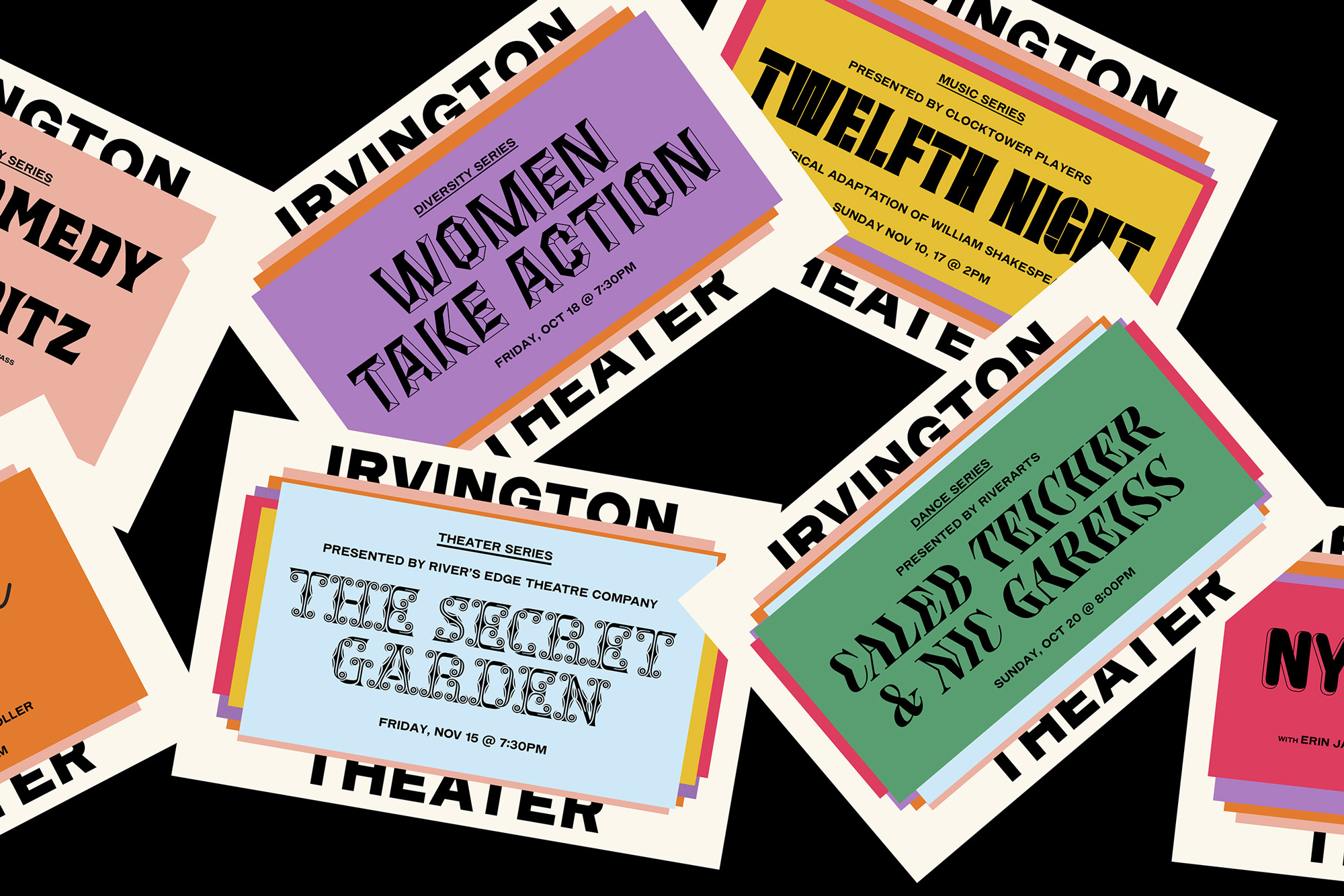 New Logo and Identity for Irvington Theater by A.A. Trabucco-Campos and Pràctica