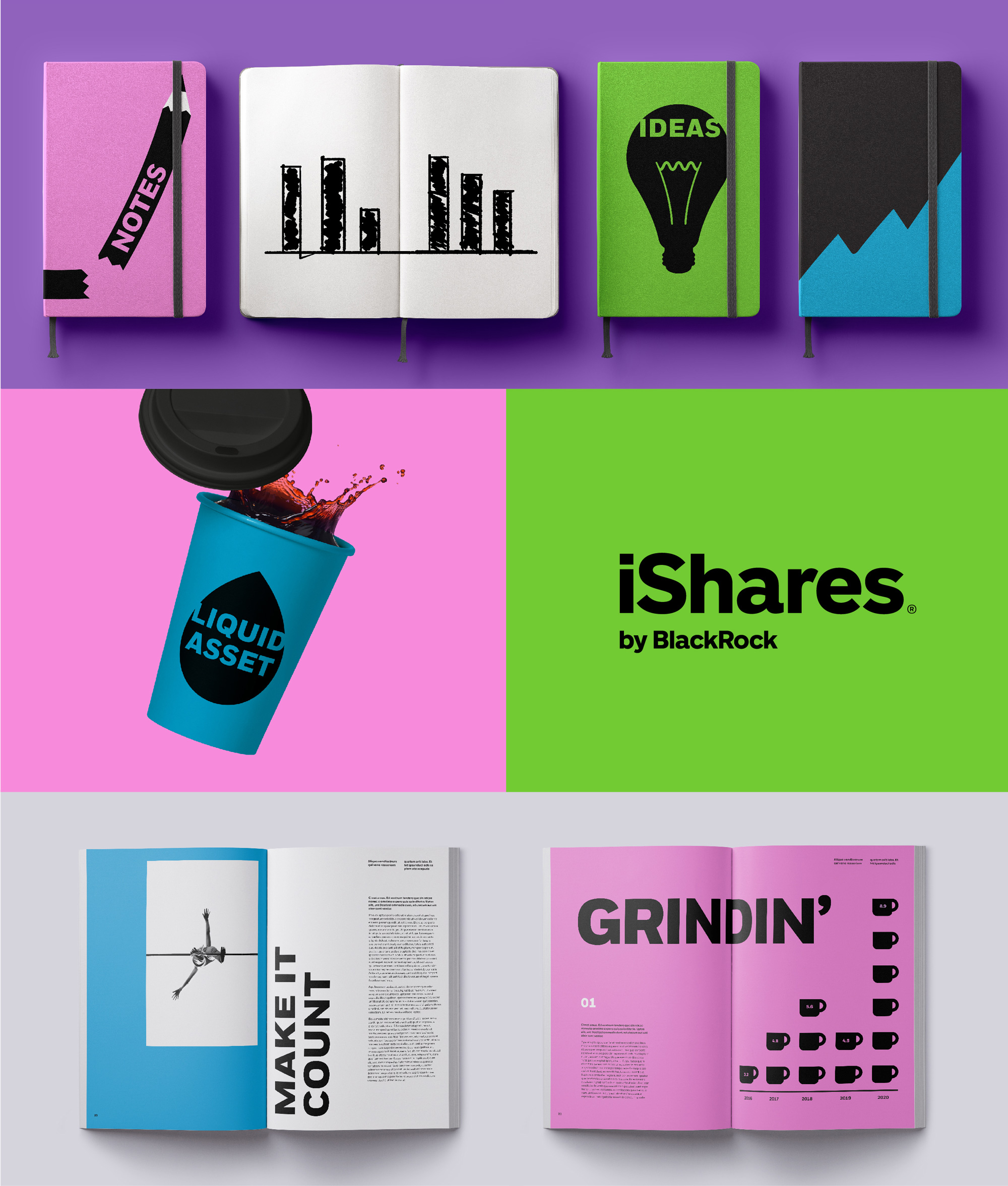 New Logo and Identity for iShares by Turner Duckworth