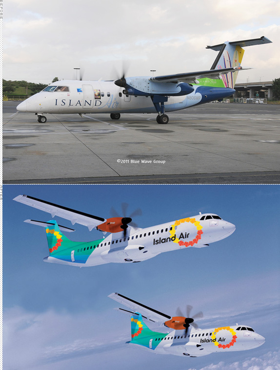 Island Air Logo and Livery