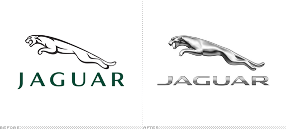 Jaguar Logo, Before and After