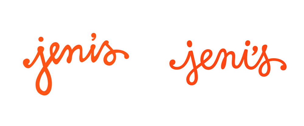 New Logo by Jessica Hische and Packaging done In-house for Jeni's Splendid Ice Creams