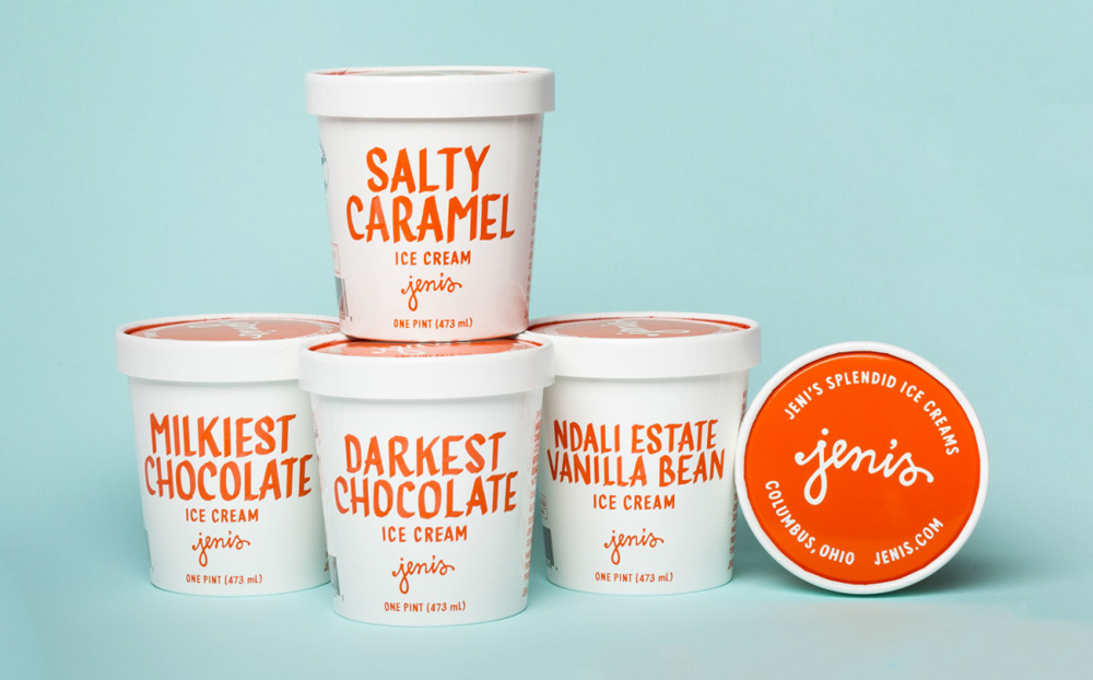New Packaging for Jeni's Splendid Ice Cream done In-house
