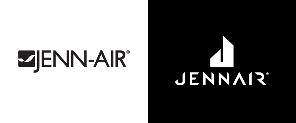 New Logo and Identity for Jenn-Air by 45 Irving