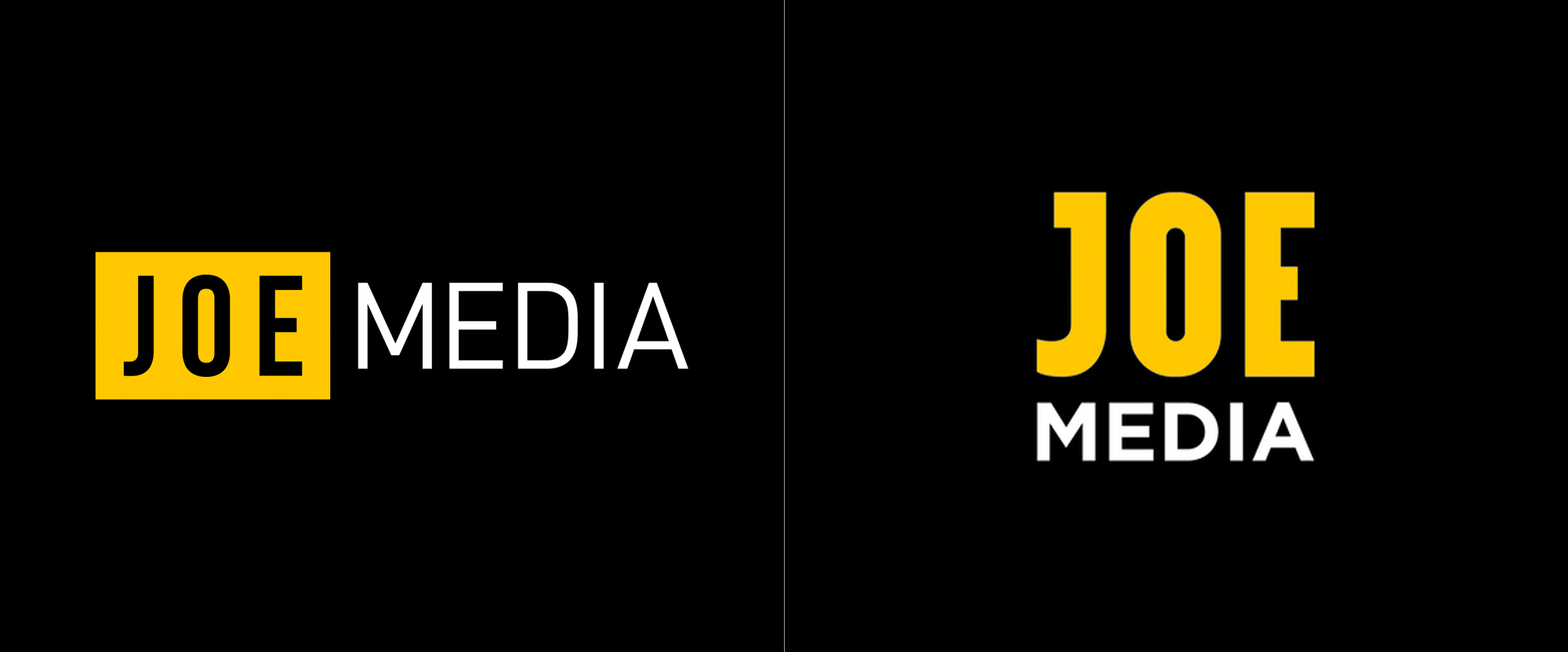 New Logo for Joe Media done In-house