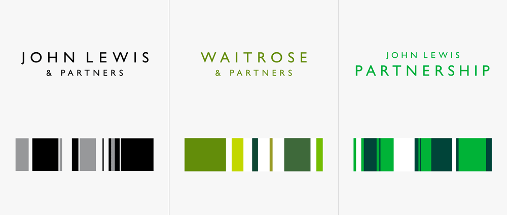 New Logos and Identities for John Lewis Partnership by Pentagram