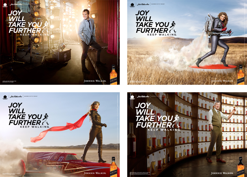 New Logo and Global Campaign for Johnnie Walker by Bloom and Anomaly