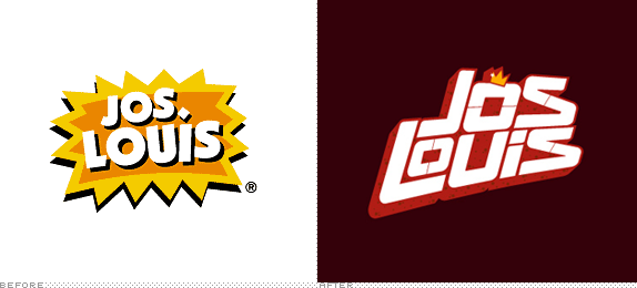 Jos Louis Logo, Before and After