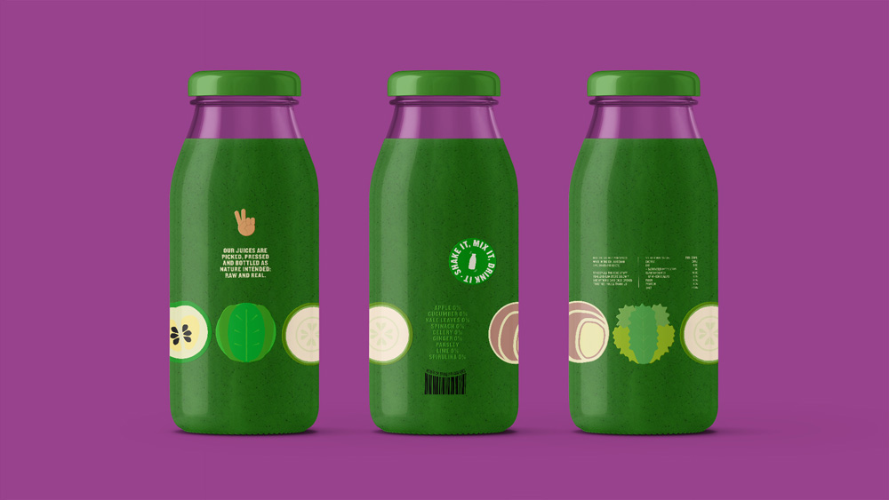 New Logo and Packaging for Juiceman by Nomad