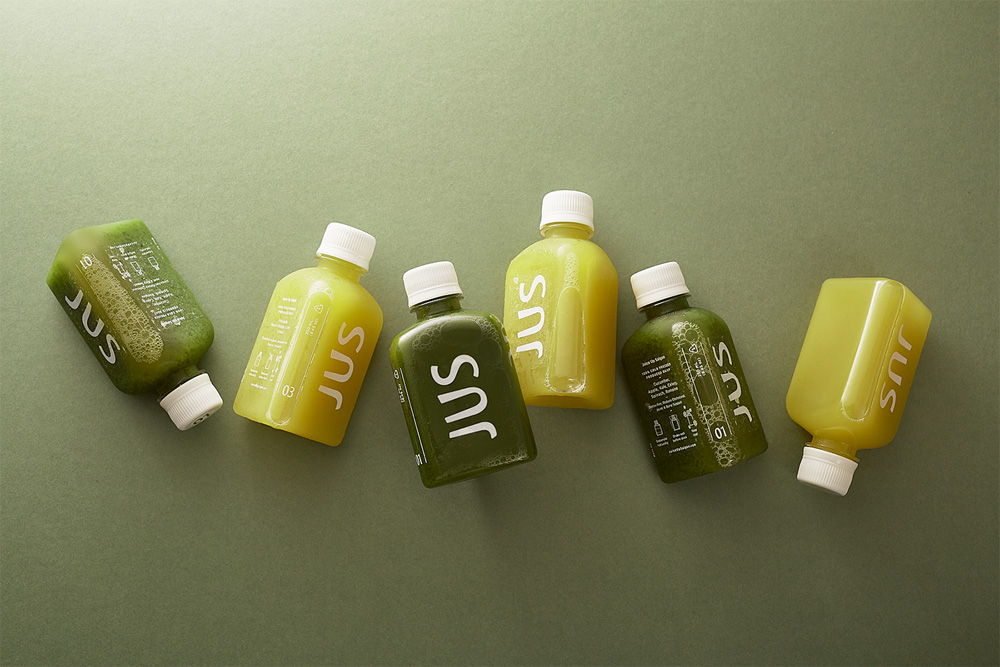 New Logo and Packaging for JUS by M -- N Associates