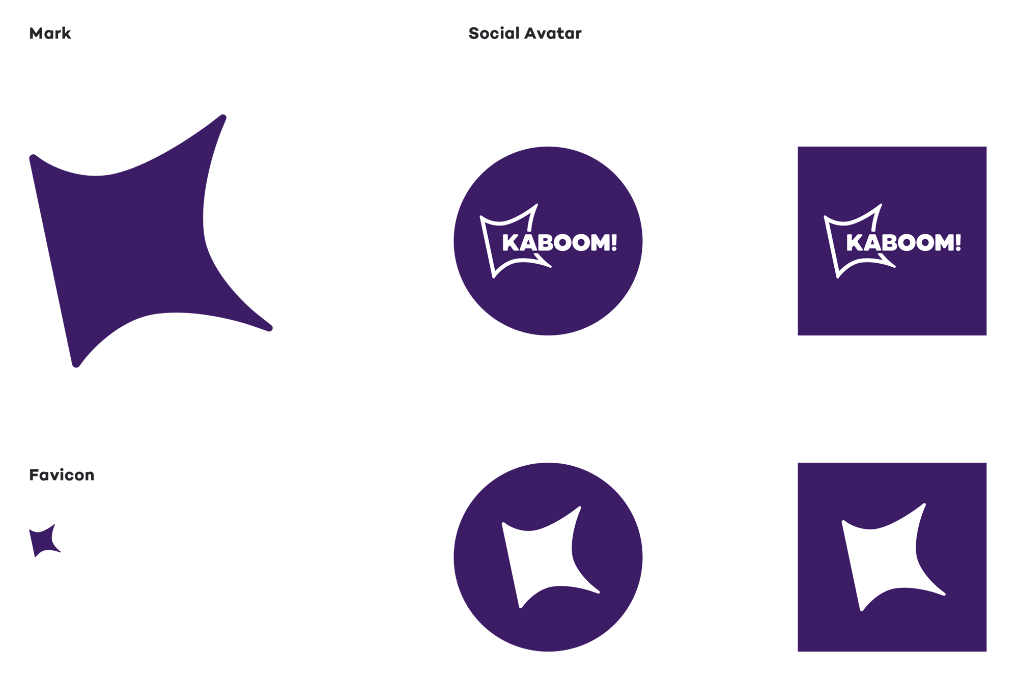 New Logo and Identity for KABOOM!