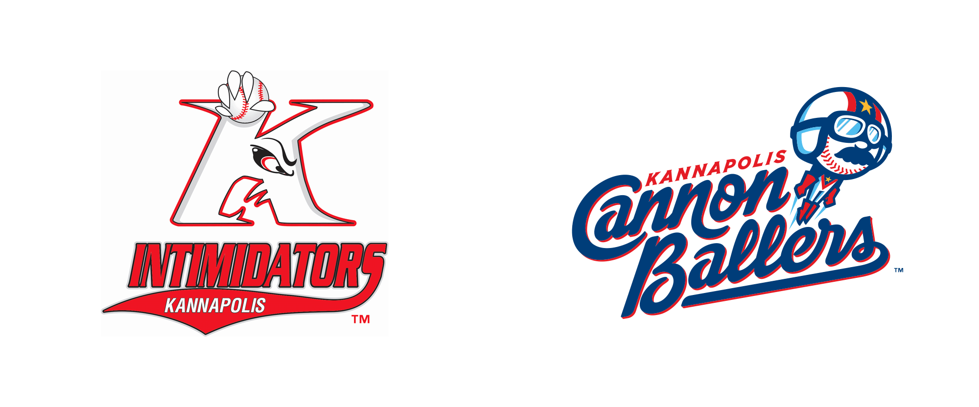 New Name and Logos for Kannapolis Cannon Ballers by Studio Simon