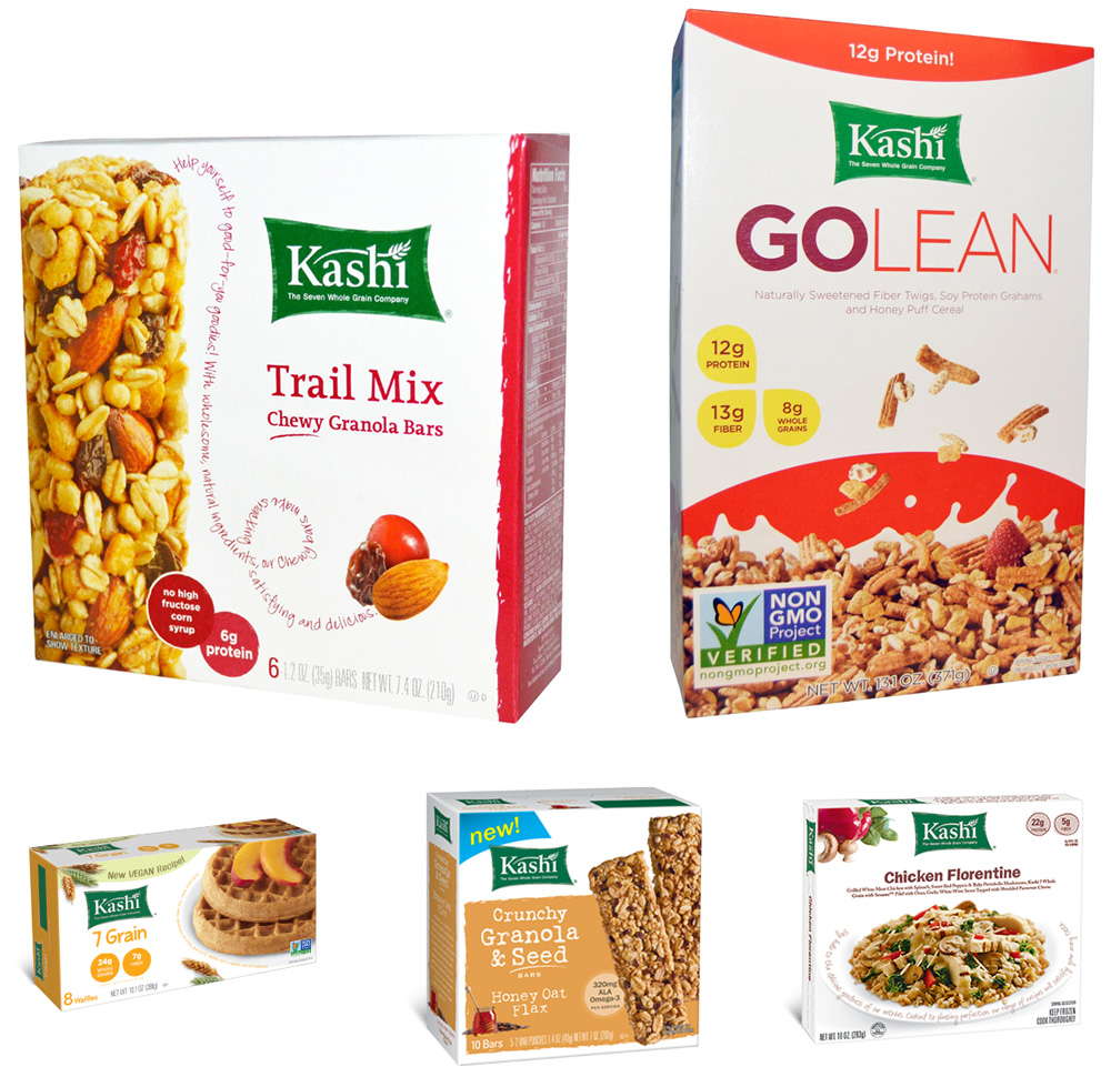 Brand New: New Logo and Packaging for Kashi by Jones Knowles