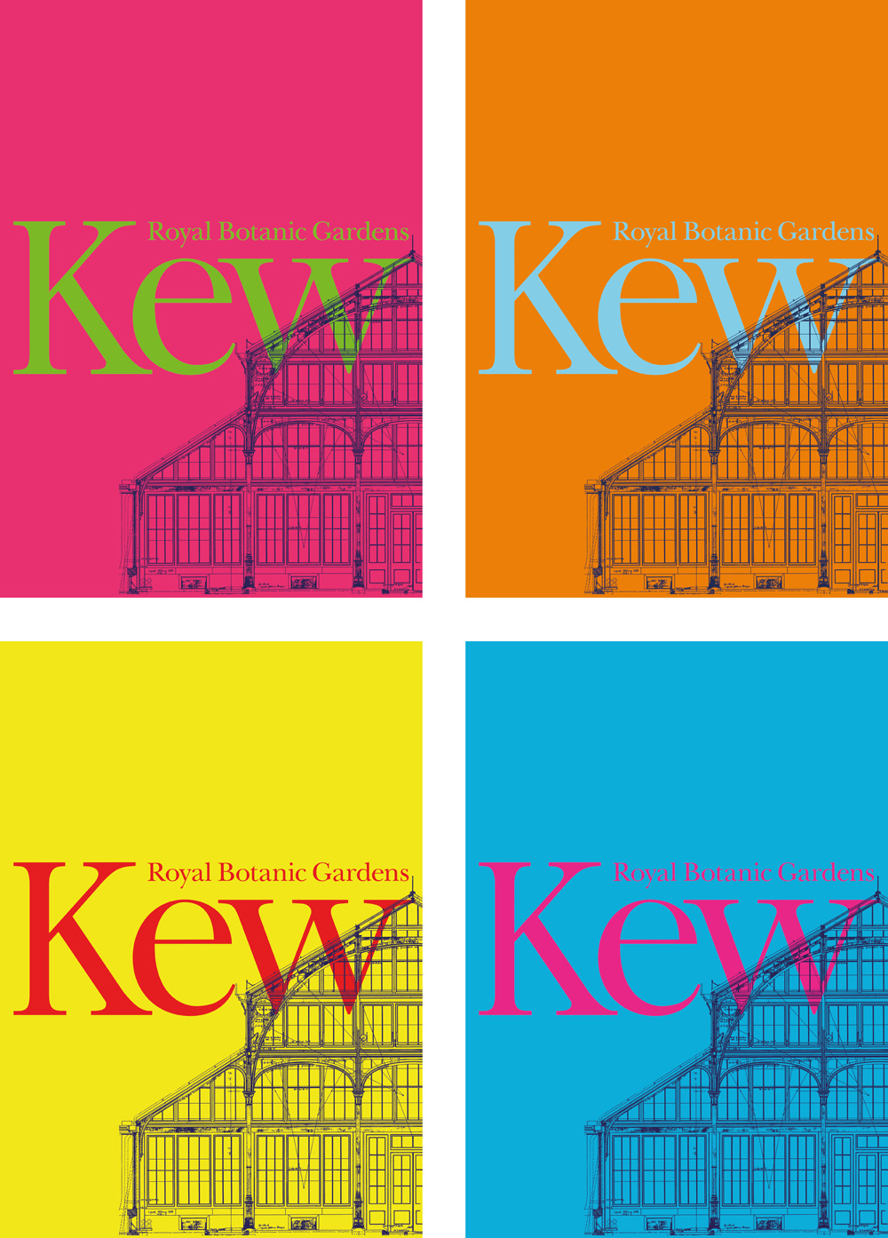 new logo and identity for royal botanic gardens kew by pentagram
