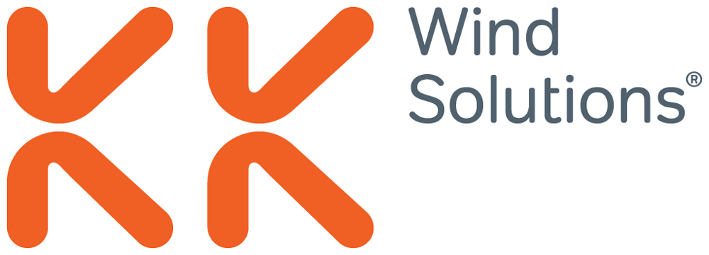 brand new  new logo and identity for kk wind solutions by heydays