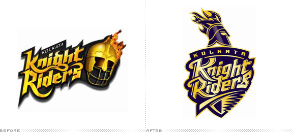 Kolkata Knight Riders Logo, Before and After