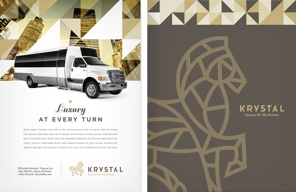 New Logo and Identity for Krystal by Gardner Design