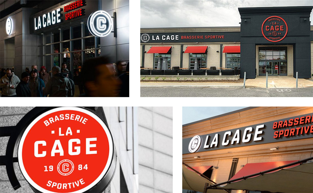 New Logo and Identity for La Cage Brasserie Sportive by lg2boutique