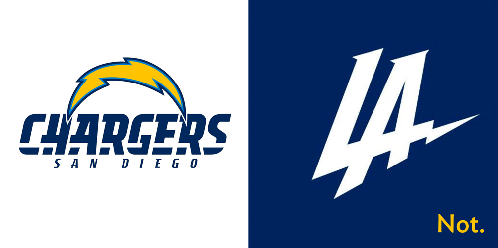 LA Chargers not-New Logo