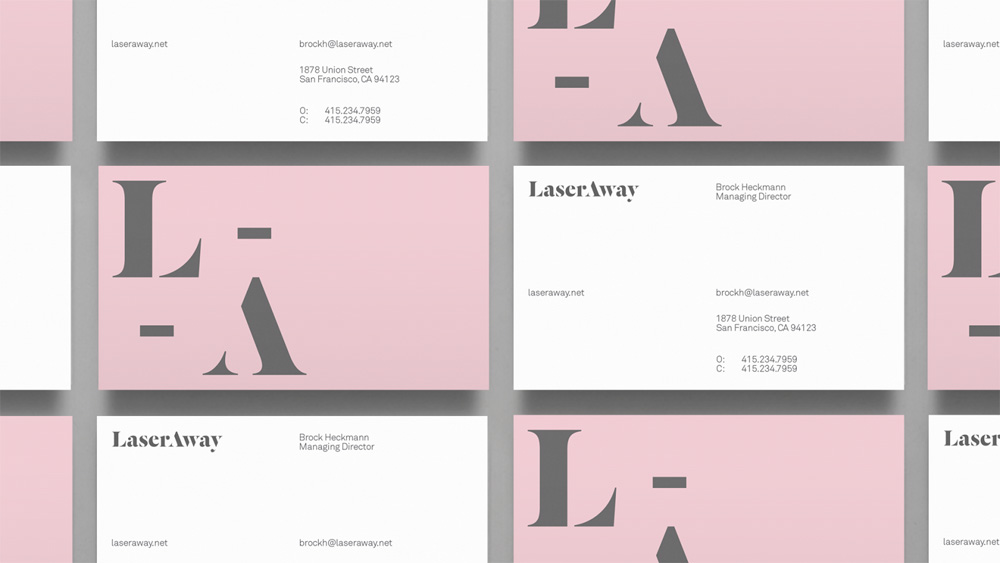Brand New: New Logo and Identity for LaserAway by DIA