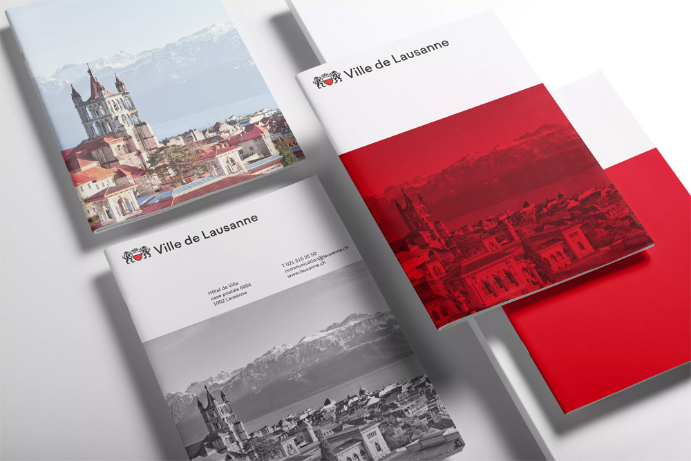 New Logo and Identity for City of Lausanne by Base