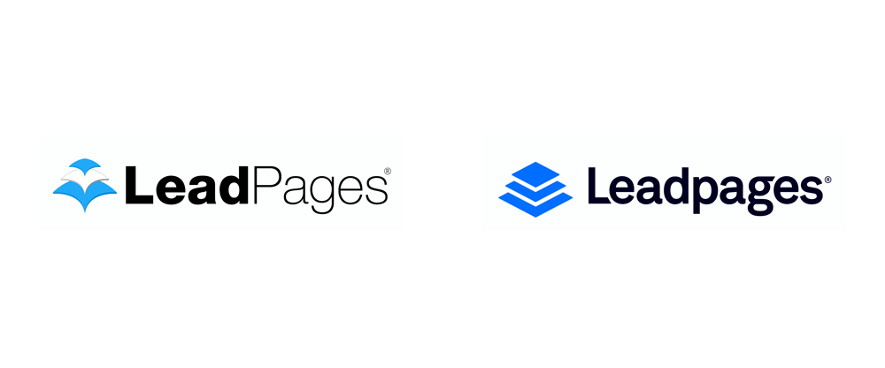 brand new new logo for leadpages done in house