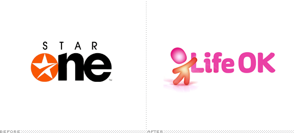 Life OK Logo, Before and After