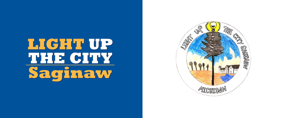 (APRIL FOOLS') New Logo for Light Up the City Saginaw by Hillwa Saleh