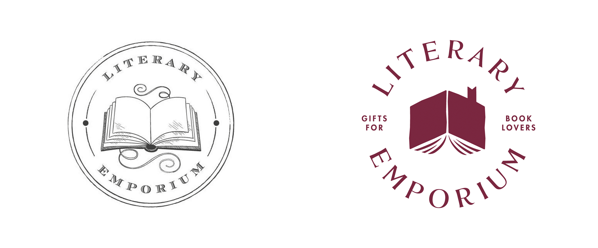 New Logo and Identity for Literary Emporium by Fiasco Design