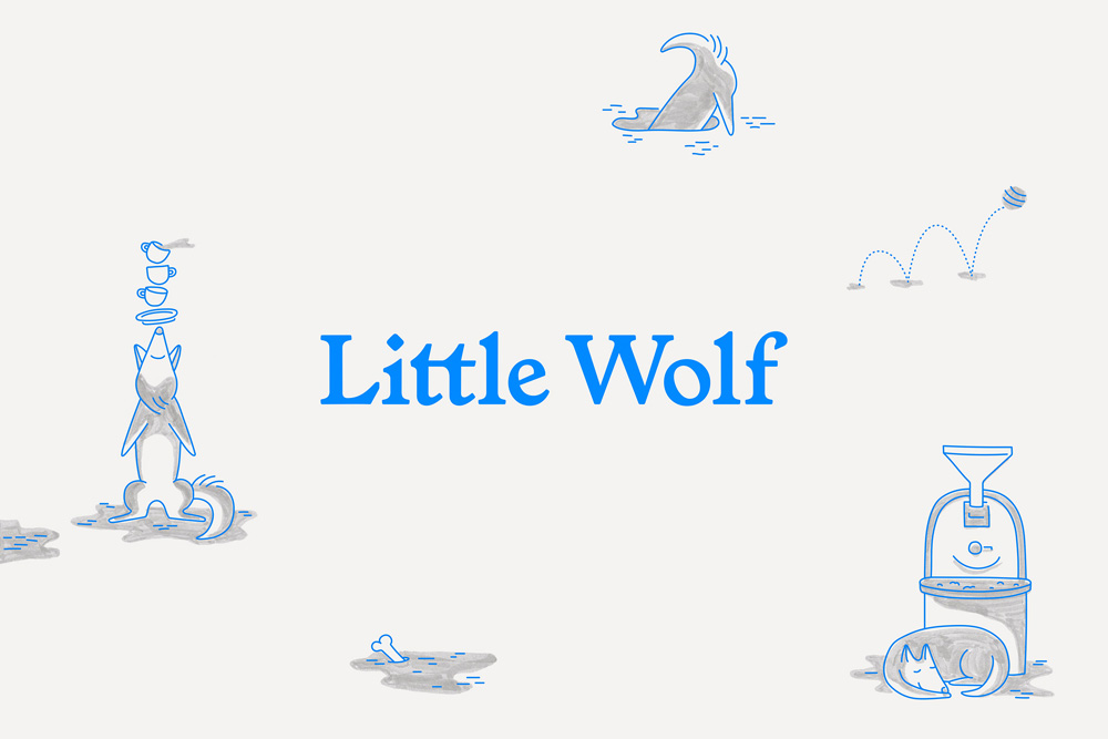 New Logo and Identity for Little Wolf by Perky Bros