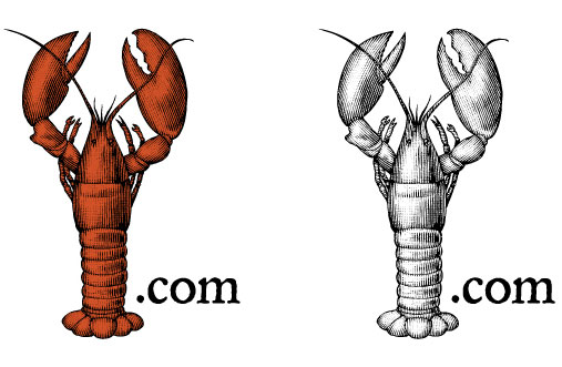 Lobster.com Logo, Detail